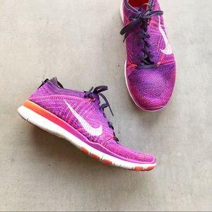 NIKE Free Flyknit 5.0 Purple Sneakers Running Shoe